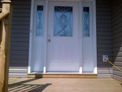 Front entrance door matheson